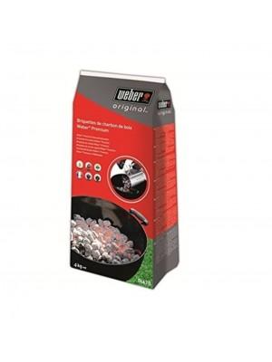 Weber 04.628 -. Sacco 4 kg di mattonelle di carbone Premium