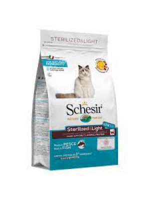Schesir sterilized & light con pesce 1,5 kg