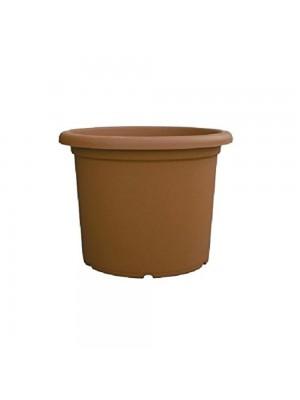 Vasi cilindrici in plastica colore terracotta cm H25x34 6 Pezzi