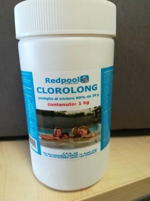 Clorolong pastiglie tricloro 90 % DA 20 gr per piscina