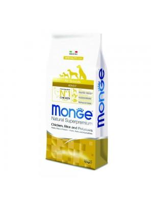 Mangime per cani adulti Monge All Breed Adult Pollo Riso Patate 12 kg