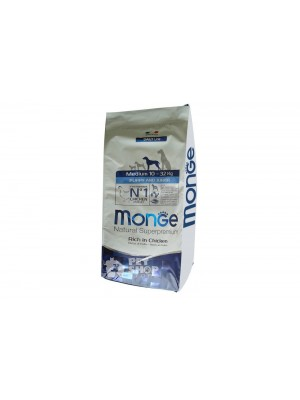 Monge Puppy Junior Medium Per Cuccioli Di Taglia Media 12 Kilogramm