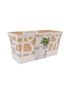 Vaso Mosaic Flowerbox cm 40 sabbia
