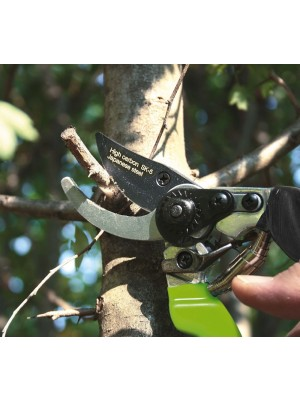 Forbice Ergonomica 21cm By-Pass Lama Acciaio Verdemax per Taglio Potatura