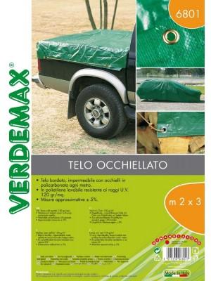 Telo Occhiellato 2x3m 120 g/mq Verdemax Copertura e Protezione per Esterni