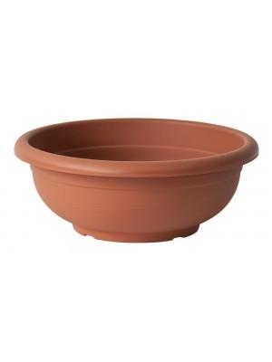 Vaso in plastica a forma di ciotola Olimpo dal diametro di cm 20 colore cotto
