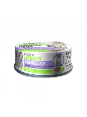 Trainer Solution Adult Sensitive Bocconcini in Soft Patè con Anatra 80 gr