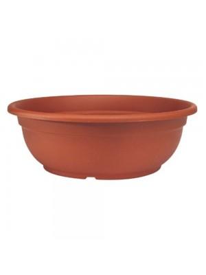 Vaso a ciotola in plastica color terracotta d cm 32