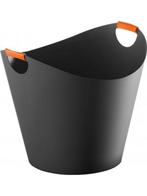 Portalegna Ivo colore nero con manici arancioni