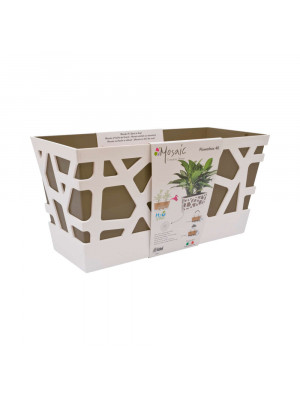 Vaso Mosaic Flowerbox cm 40 taupe