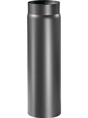 """Articolo fumisteria Linea """"Legna"""":elemento lineare T100 acciaio verniciato,diametro 140 mm, lunghezza 1000 mm."""